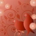 Illustration of birds Royalty Free Stock Image