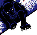 Illustration of black panther with white space for text Stock Images