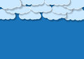 Illustration blue background clouds Stock Image