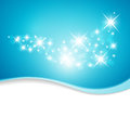 Illustration of blue background with stars Royalty Free Stock Images