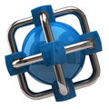 Illustration of blue globalization and network icon Royalty Free Stock Image