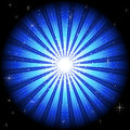 Illustration of blue light burst Royalty Free Stock Photo