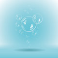 Illustration of blue soap bubbles on white background vector with transparency Royalty Free Stock Photography