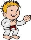 Illustration boy karate Stock Photo