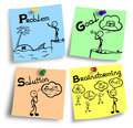 Illustration of brainstorming process explained in four steps
