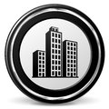 Buildings black and gray icon