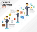 Illustration of business career growth Royalty Free Stock Photo