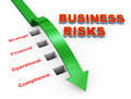 Illustration of business risks management Royalty Free Stock Photography
