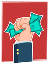 Illustration businessman s hand holding alot money Royalty Free Stock Photos