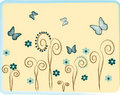 Illustration of butterflies. Royalty Free Stock Photography