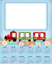 Illustration calendar for 2016 in kids design Royalty Free Stock Photo