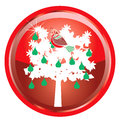 Illustration card of the days of christmas buttons Royalty Free Stock Photography