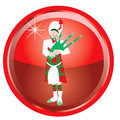Illustration card of the days of christmas buttons Stock Photography