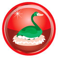 Illustration card of the days of christmas buttons Royalty Free Stock Images