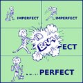 Imperfect becomes perfect after a boy slams with a hammer.