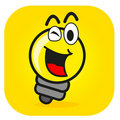 Illustration of cartoon bulb lamp Stock Images