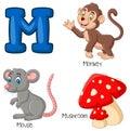 Cartoon M alphabet