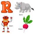 Cartoon R alphabet