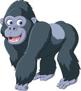 Cartoon silver back gorilla Royalty Free Stock Photo