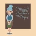 An illustration of cartoon teacher