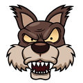 Illustration cartoon wolf face Stock Photos