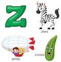 Cartoon Z alphabet