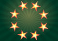 Illustration casino stars green background Stock Photos