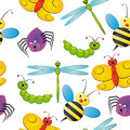 Illustration characteristic bug seamless pattern Stock Image