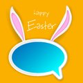 Illustration chat bubble easter bunny ears Royalty Free Stock Image