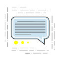The illustration of a chat is modern. Icon of dialogue or communication of the flat line style