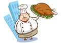 Illustration of a chef holding delicious dish 02 Royalty Free Stock Image