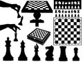 Illustration of chess pieces isolated on white Stock Images