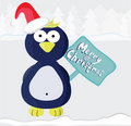 Illustration with  Christmas pinguin Royalty Free Stock Images