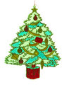 Illustration of christmas tree Stock Photo