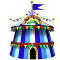 Illustration of a circus tent Royalty Free Stock Images