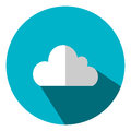 Illustration is a cloud icon as a data representation symbol. Can be used in the media.