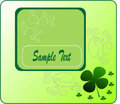 Illustration clover on St. Patrick's Day. Royalty Free Stock Photos