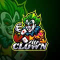 Clown esport logo mascot design Royalty Free Stock Photo