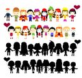 Illustration of collection of simple kids this is file eps format Royalty Free Stock Photo