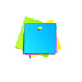 Illustration of a colored set of sticky notes Royalty Free Stock Photo