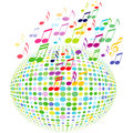 Illustration colorful ball musical notes Royalty Free Stock Photography