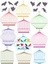 Colorful Birdcage Set_eps Royalty Free Stock Photo