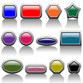 Illustration colorful buttons white background Royalty Free Stock Images