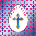 Illustration colorful easter card as background Royalty Free Stock Image