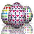 Illustration of colorful easter eggs on a white background Royalty Free Stock Image