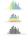 Illustration of colorful metropolitan city skyline Royalty Free Stock Image