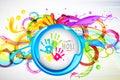 Colorful Splash in Holi Wallpaper Royalty Free Stock Photo