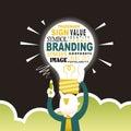 Illustration Concept Of Branding
