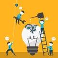 Illustration concept of team work
