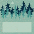 Illustration of coniferous forest with a place for your text vector Royalty Free Stock Photos